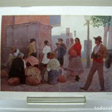 Arte: EN EL MENTIDERO POR ALVAREZ DUMONT - ANTIGUA LAMINA PAPEL TEXTURA LIENZO. Lote 201198856
