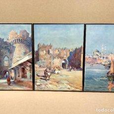 Arte: 3 PLANCHAS A COLOR DE IL MEDITERRANEO DE ORIO VERGANI 1930. Lote 202338097