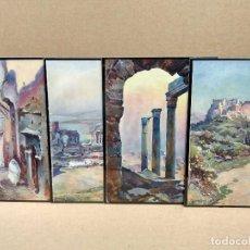 Arte: 4 PLANCHAS A COLOR DE IL MEDITERRANEO DE ORIO VERGANI 1930. Lote 202338205