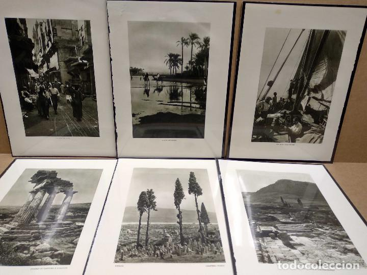 6 PLANCHAS FOTOGRABADO DE IL MEDITERRANEO DE ORIO VERGANI 1930 (Arte - Láminas Antiguas)