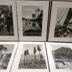 Arte: 6 PLANCHAS FOTOGRABADO DE IL MEDITERRANEO DE ORIO VERGANI 1930. Lote 202338500