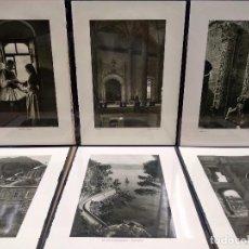Arte: 6 PLANCHAS FOTOGRABADO DE IL MEDITERRANEO DE ORIO VERGANI 1930. Lote 202338782