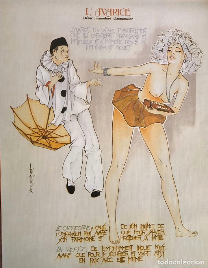 Arte: Los siete pecados capitales-Láminas eroticas. - Foto 3 - 202340321