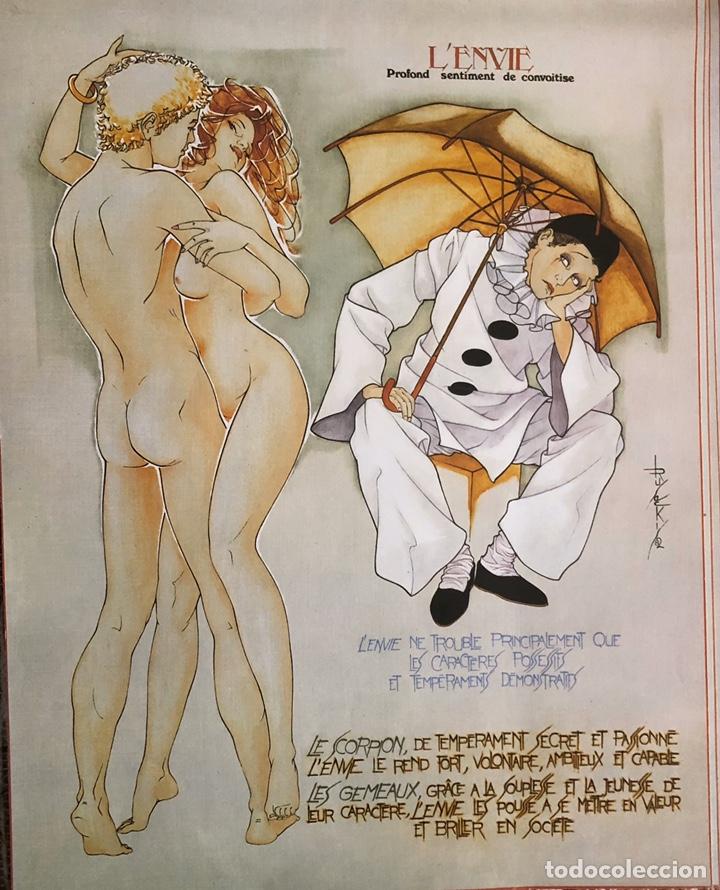 Arte: Los siete pecados capitales-Láminas eroticas. - Foto 4 - 202340321