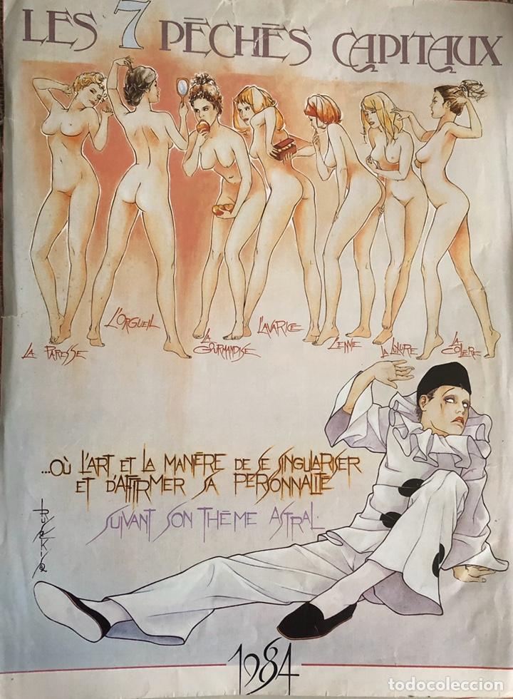 LOS SIETE PECADOS CAPITALES-LÁMINAS EROTICAS. (Arte - Láminas Antiguas)