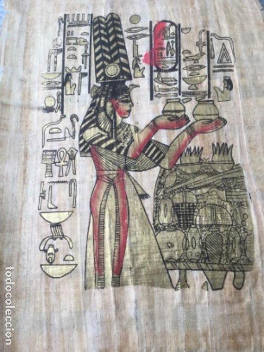 Arte: Papiro egipcio pintado a mano - Foto 2 - 202410473