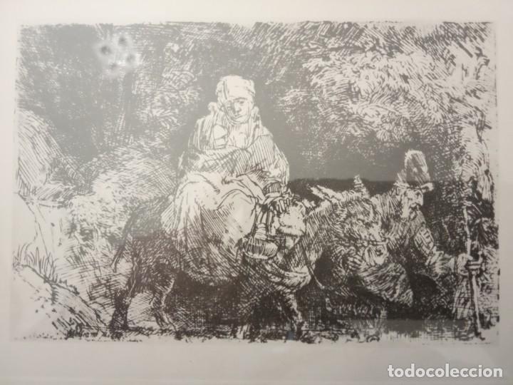 Arte: LAMINA LA MADRE EL NÑLO EL BURRO Y EL PADRE - Foto 2 - 202675751