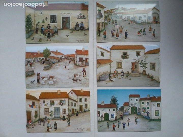 Arte: Lote 23 postales con la temática Castilla de la Pintora Puri Sánchez Años 80 - Foto 4 - 182910616