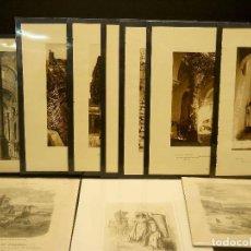 Arte: CADIZ JEREZ TARIFA ARCOS 10 GRABADOS Y FOTOGRAFIAS ANTIGUAS. Lote 203459561