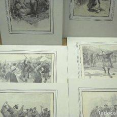 Arte: LAS DANZAS NACIONALES ILLUSTRATION NOEL 1894 6 MONTAJES PASSEPARTOUT. Lote 203474685