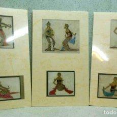 Arte: LES SEREMPIES L´ILUSTRATION 1929, 3 MONTAJES PASSEPARTOUT. Lote 203555333