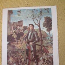 Arte: LAMINA DE JOVEN CABALLERO EN UN PAISAJE- VITTORE CARPACC COLECCIÓN MUSEO THYSSEN BORNEMISZA. EL PAIS. Lote 203594671