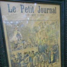 Arte: AMTIGUA LAMINA ILUSTRADA DEL PERIODICO PETIT JOURNAL 4 ABRIL 1897 - ESPECTACULAR. Lote 203634918