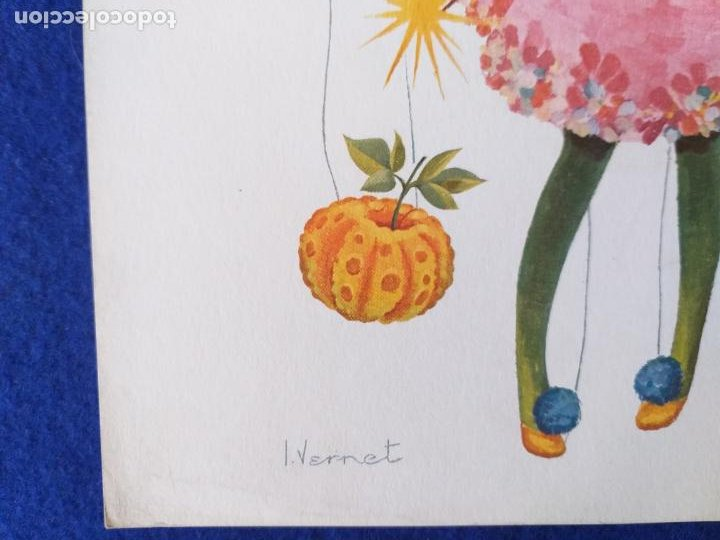 Arte: LAMINA INFANTIL. NIÑA. ILUSTRADA POR WERNET. AÑOS 70/80 . 30 X 21 CMS - Foto 3 - 203816213