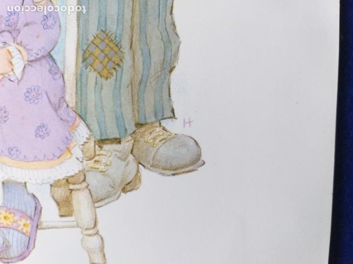 Arte: LAMINA INFANTIL. NIÑOS CON PERRO. ILUSTRADA POR H.. AÑOS 70/80 . 30 X 21 CMS - Foto 3 - 203816652