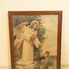 Arte: INTERESANTE ANGEL EN UNA SERIGRAFIA ENMARCADA. Lote 203872193