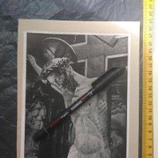 Art: EL SANTO CRISTO DE BALAGUER , LAMINA AÑOS 30/40 SEMANA SANTA LERIDA. Lote 204395648