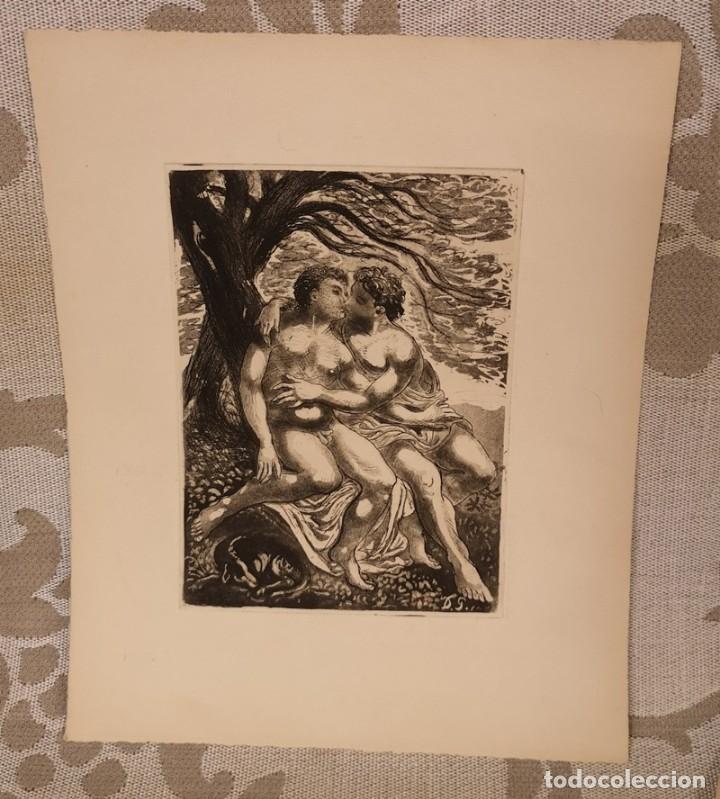 Arte: Lote de cuatro láminas amenas - Foto 3 - 204654065