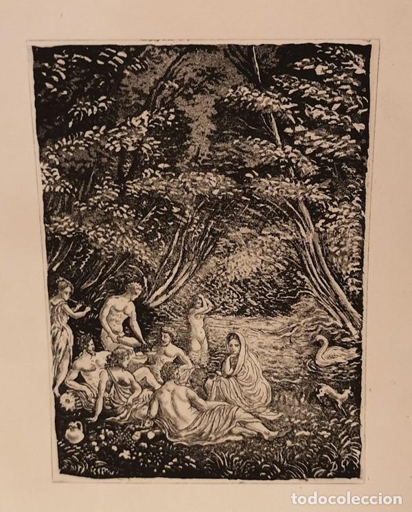 Arte: Lote de cuatro láminas amenas - Foto 4 - 204654065