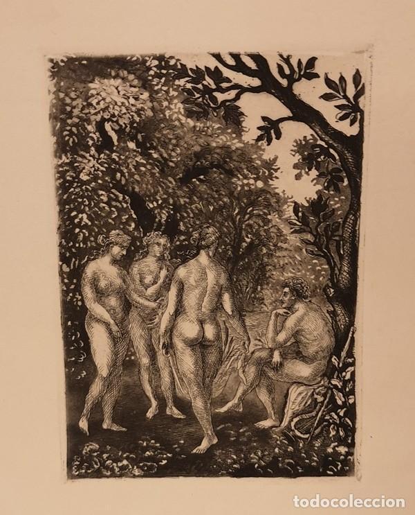 Arte: Lote de cuatro láminas amenas - Foto 5 - 204654065