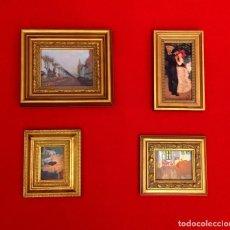 Arte: LOTE DE CUADROS MINIATURAS PINTORES IMPRESIONISTAS.. Lote 204813356