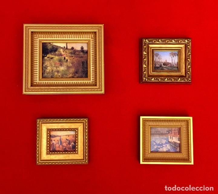 LOTE DE CUADROS MINIATURAS PINTORES IMPRESIONISTAS. (Arte - Láminas Antiguas)