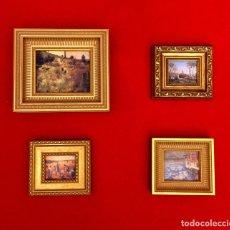 Arte: LOTE DE CUADROS MINIATURAS PINTORES IMPRESIONISTAS.. Lote 204813731