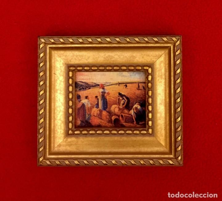 Arte: LOTE DE CUADROS MINIATURAS PINTORES IMPRESIONISTAS. - Foto 3 - 204813731