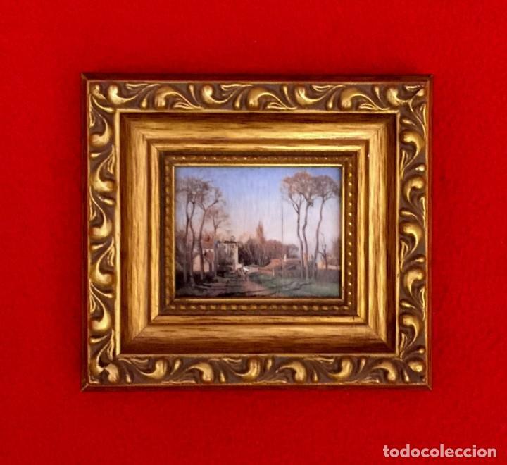 Arte: LOTE DE CUADROS MINIATURAS PINTORES IMPRESIONISTAS. - Foto 4 - 204813731