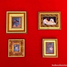 Arte: LOTE DE CUADROS MINIATURAS PINTORES IMPRESIONISTAS.. Lote 204814225