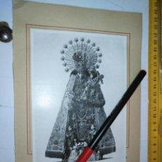 Arte: VIRGEN DE LOS DESAMPARADOS DE VALENCIA SEMANA SANTA LAMINA AÑOS 30/40 Y LEYENDA TRASERA. Lote 205060367