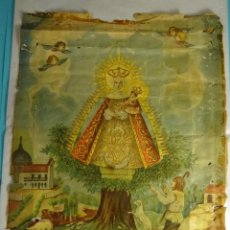 Arte: LÁMINA ANTIGUA VIRGEN DE CORTES. PATRONA DE ALCARAZ. IMPRENTA MATEU - MADRID. FORMATO 52 X 40 CM. Lote 205297653
