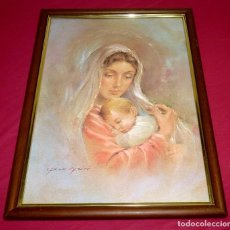 Arte: LAMINA ENMARCADA DE CARLO PARISI.CON MARCO 54 X 40 CM.LAMINA 34 X 48 CM.. Lote 206188573