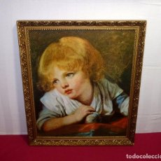 Arte: LAMINA BARNIZADA ENMARCADA CON MARCO DE 74 X 63 CM.LAMINA 65 X 54 CM.. Lote 206188706