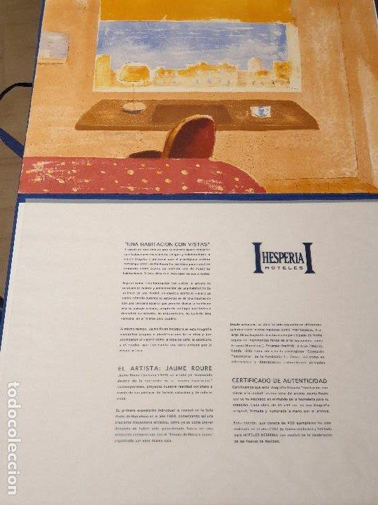 LITOGRAFIA, UNA HABITACION CON VISTAS ...JAUME ROURE (Arte - Láminas Antiguas)