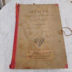 Arte: CONJUNTO DE LAMINAS ANTIGUAS DE ALTARES ROMANICOS Y GOTICOS A.NIEDLING. Lote 206338966