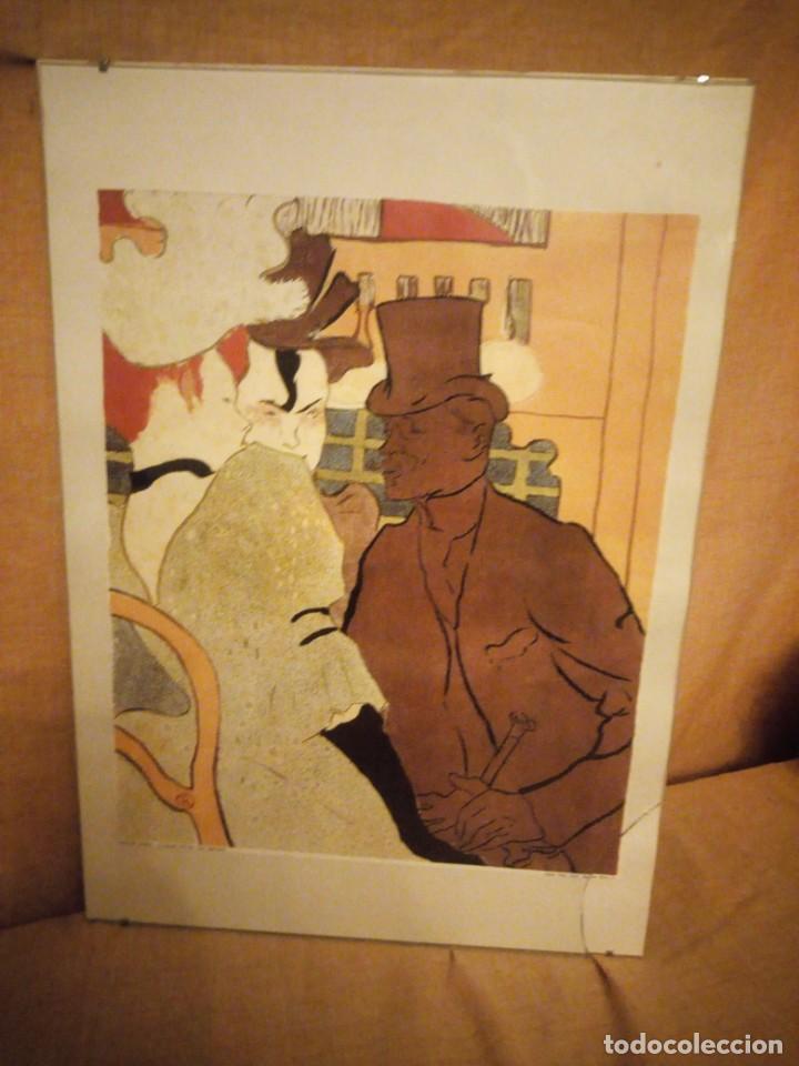 EL INGLÉS EN EL MOULIN ROUGE. ARTISTA: TOULOUSE-LAUTREC, HENRI, DE (1864-1901) LAMINA ENMARCADA (Arte - Láminas Antiguas)