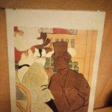 Arte: EL INGLÉS EN EL MOULIN ROUGE. ARTISTA: TOULOUSE-LAUTREC, HENRI, DE (1864-1901) LAMINA ENMARCADA. Lote 206384243