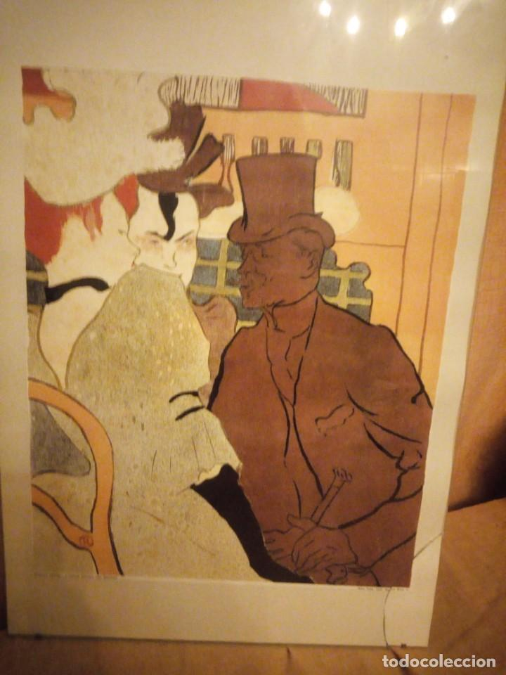 Arte: El inglés en el Moulin Rouge. Artista: Toulouse-Lautrec, Henri, de (1864-1901) lamina enmarcada - Foto 2 - 206384243