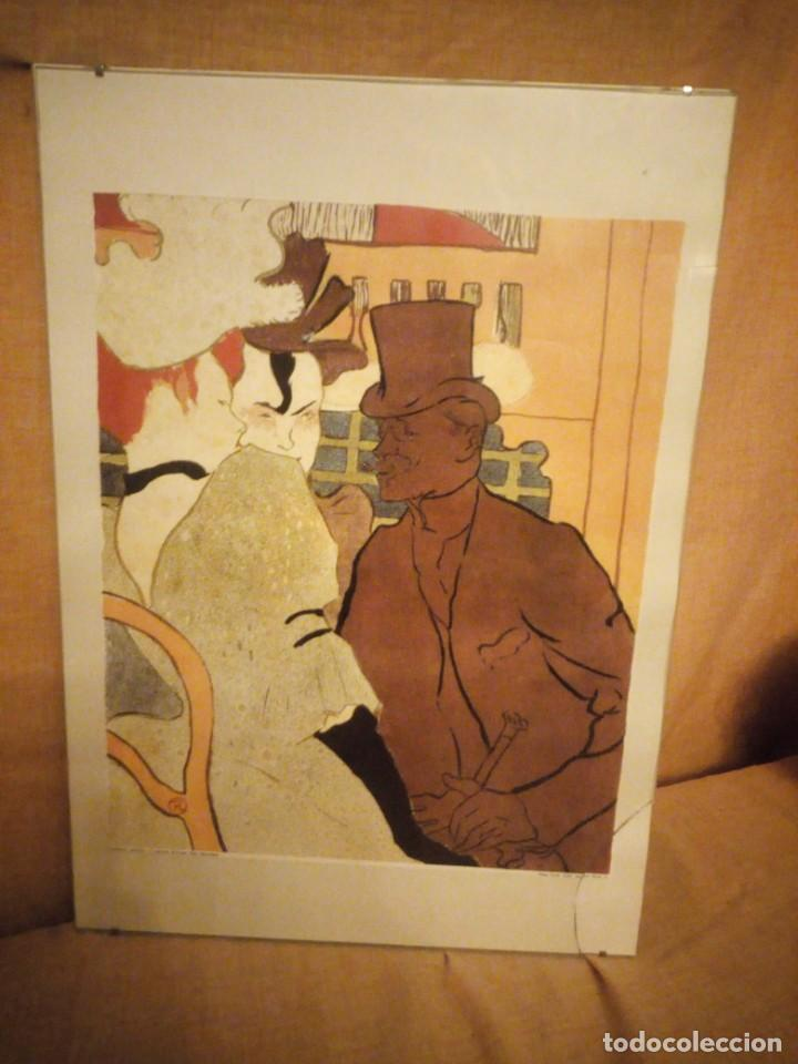 Arte: El inglés en el Moulin Rouge. Artista: Toulouse-Lautrec, Henri, de (1864-1901) lamina enmarcada - Foto 3 - 206384243