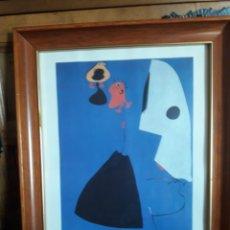 Arte: TRES MUJERES, LÁMINA ENMARCADA DE JOAN MIRÓ. Lote 206438126