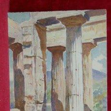 Art: PAESTUM DE PIERRE VIGNAL DE PIERRE VIGNAL PLANCHA A COLOR 1926. Lote 206775078