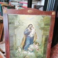 Arte: MARCO PINO CON LAMINA RELIGIOSA AÑOS 40. Lote 206786088