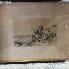 Arte: LITOGRAFÍA CINTRA CONVENTO LA PEÑA FIRMA J CUEVAS LITH G VIVIAN 1838 PORTUGAL 53 X 67 CM. Lote 207638765