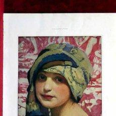 Arte: LA JOVEN DEL TURBANTE DE W. LAPARRA, ILLUSTRATION NOEL 1919. Lote 207697563