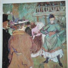 """Arte: PINTURA, LÁMINA BAILE EN EL """"MOULIN ROUGE"""" DEL PINTOR H. DE TOULOUSE-LAUTREC. Lote 207698078"""