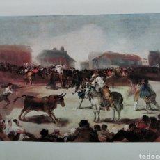 Arte: PINTURA, LÁMINA TOROS EN EL PUEBLO, DEL PINTOR FRANCISCO DE GOYA. Lote 207698848