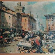 Arte: JOSEP SARQUELLA ESCOBET - LÁMINA ANTIGUA - 42 X 33. VER FOTOS.. Lote 208043296