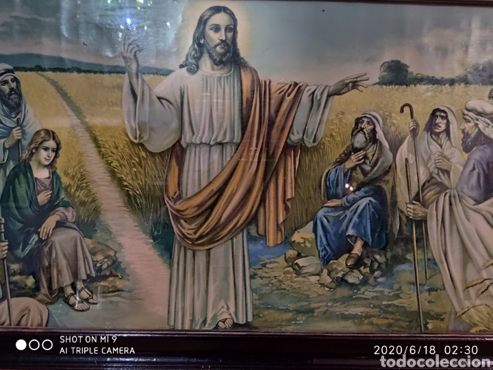 Arte: LAMINA O LITOGRAFÍA ANTIGUA, DE JESÚS CON LOS APÓSTOLES. VER, ÚNICA - Foto 3 - 208648563