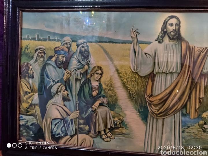 Arte: LAMINA O LITOGRAFÍA ANTIGUA, DE JESÚS CON LOS APÓSTOLES. VER, ÚNICA - Foto 5 - 208648563